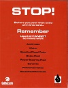 Stop Sticker (for oil tank placement) English